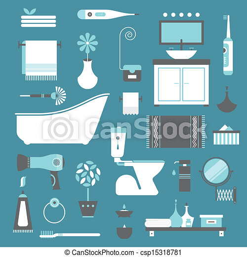 bathroom icons - csp15318781