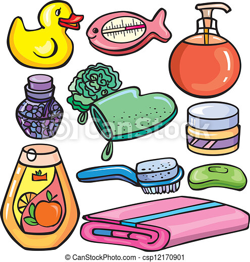 Bathroom Clipart Set Bathroom Icons Set Vector Clipart  Search Illustration Drawings .
