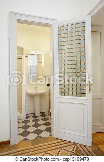 Bathroom in small new apartment - csp13199470