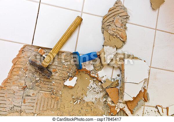 bathroom is renovation - csp17845417