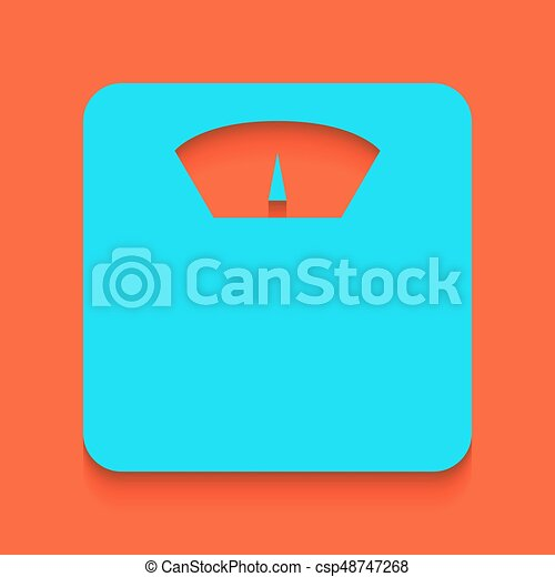 bathroom scale sign vector whitish icon on brick wall as clip rh canstockphoto com