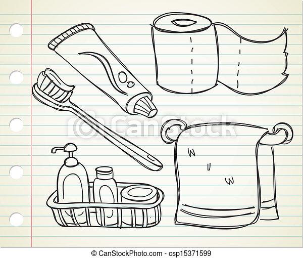 Bathroom Stuff - Drawing of bathroom