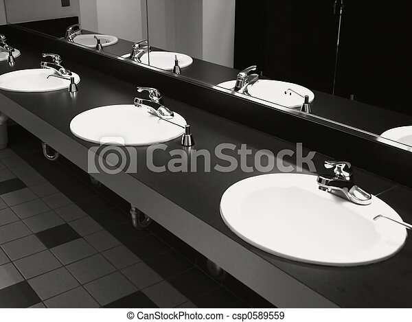Bathroom Wash Basins - csp0589559