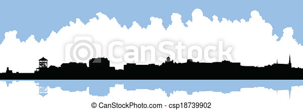 Bathurst, New Brunswick Skyline - csp18739902