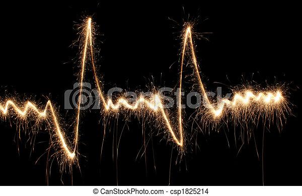 batida, coração, sparkler - csp1825214