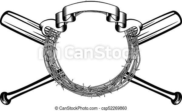 bats barbed wire - csp52269860