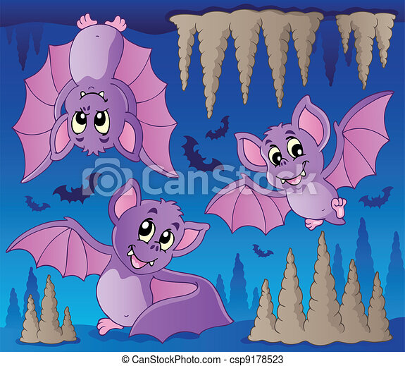 Bats theme image 1 - csp9178523