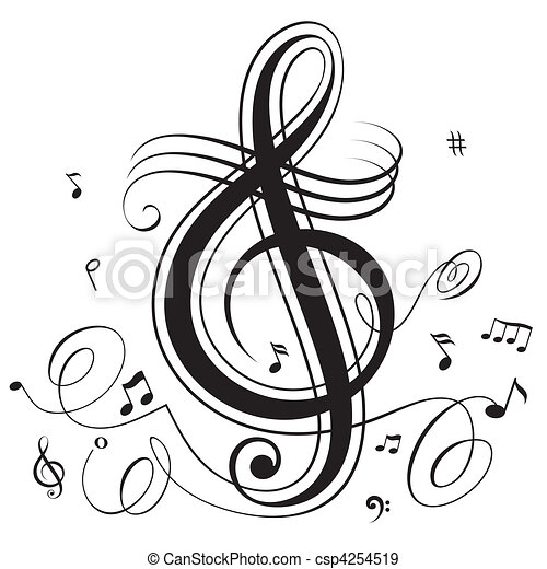 battement, musique - csp4254519