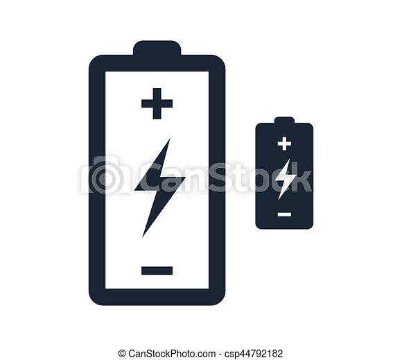 Batterie, blitz, design, ikone. Batterie, blitz, begriff,... Vektor ...