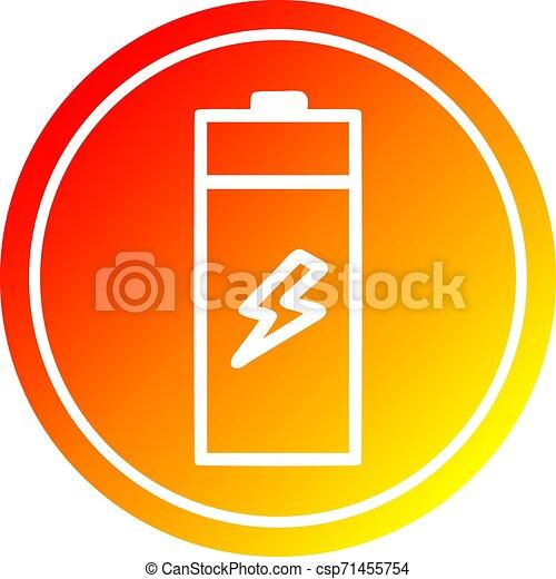 batterie, gradient, chaud, spectre, circulaire - csp71455754