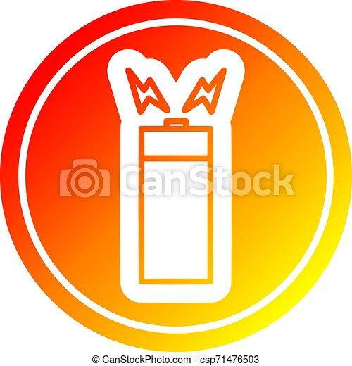 batterie, gradient, chaud, spectre, circulaire - csp71476503