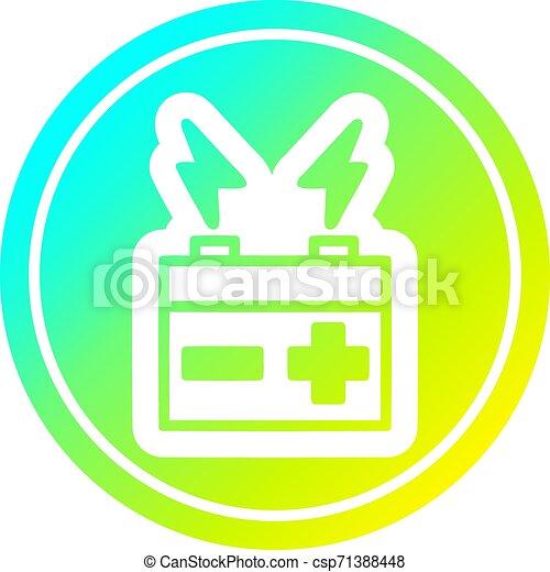 batterie, gradient, froid, spectre, circulaire - csp71388448
