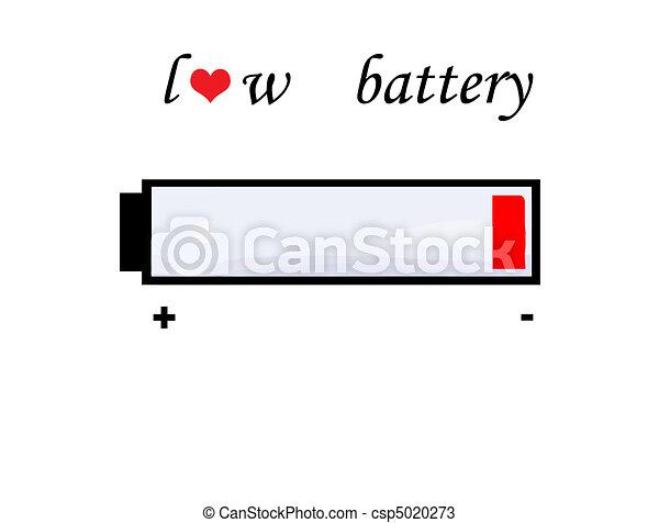 Batterie, symbol, liebe. Liebe, batterie, abstrakt, abbildung ...