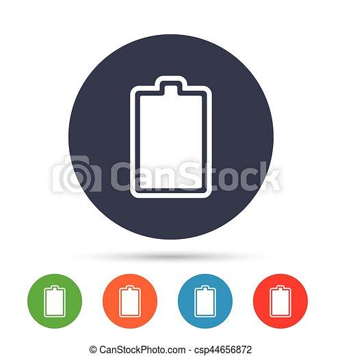 Batterie, völlig, electricity., zeichen, icon., aufgeladen ...