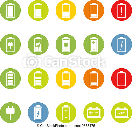 Battery and Accumulator Icons - csp19685175