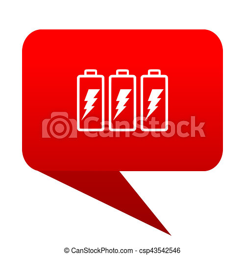 battery bubble red icon - csp43542546