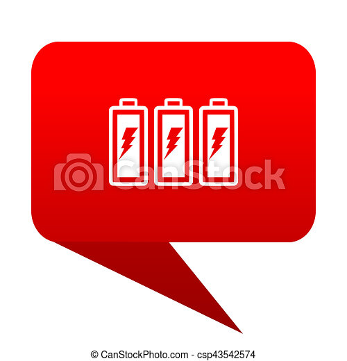 battery bubble red icon - csp43542574