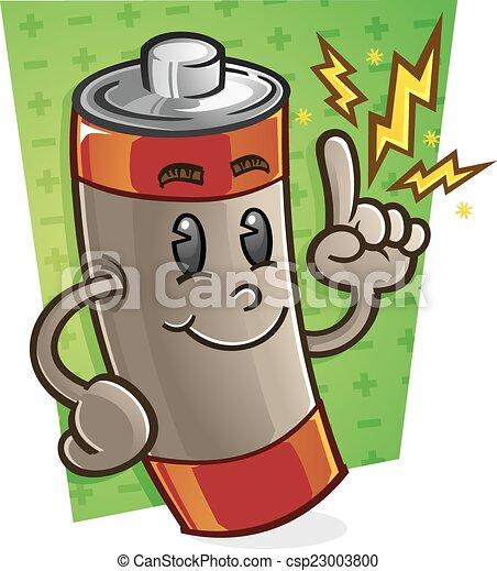 Battery Cartoon Character - csp23003800