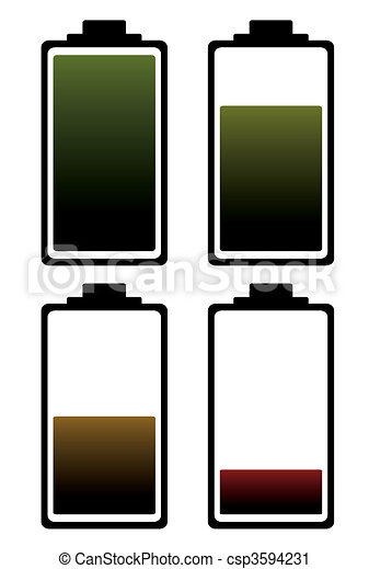 battery charge color icon - csp3594231