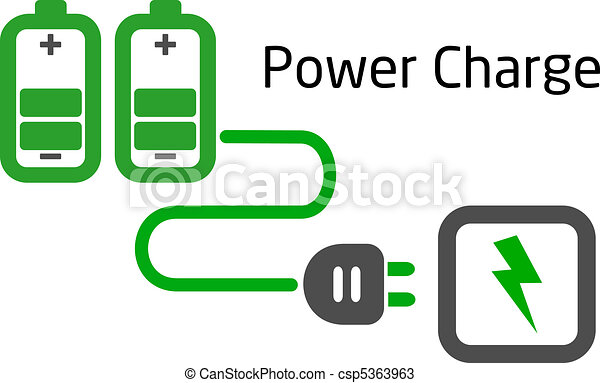battery charge with plug vector - csp5363963