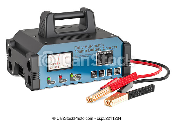 Battery charger, 3D rendering - csp52211284