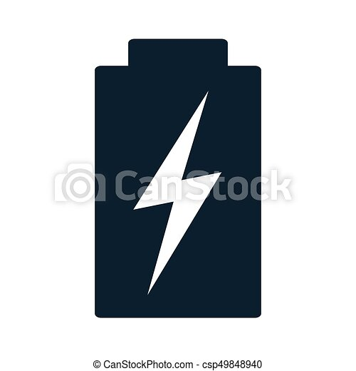 Battery Charging Black Icon On White Background
