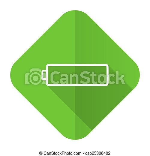 Battery Flat Icon Charging Symbol Power Sign Stock Illustration