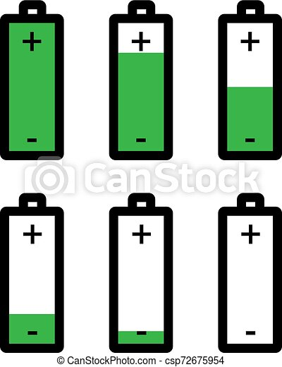 battery icon battery vector art illustration can stock photo