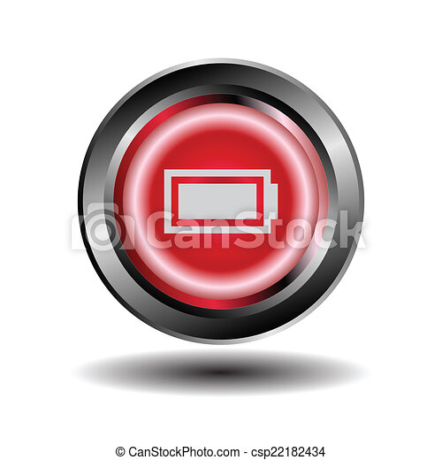 Battery icon button - csp22182434