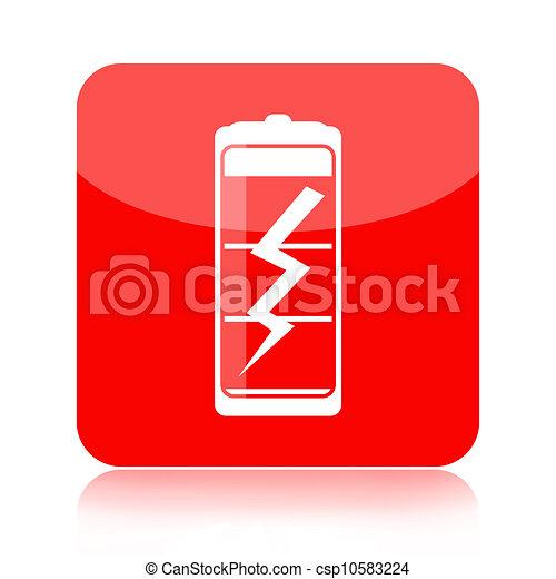 Battery icon - csp10583224