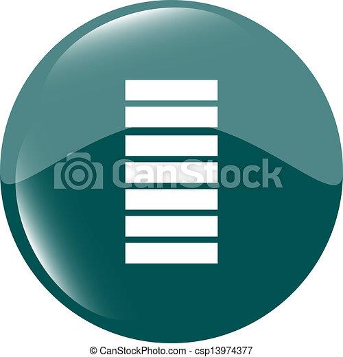 Battery icon - green button - csp13974377