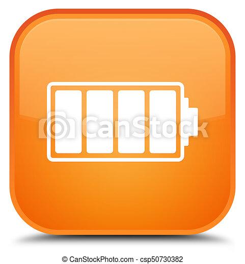Battery icon special orange square button - csp50730382