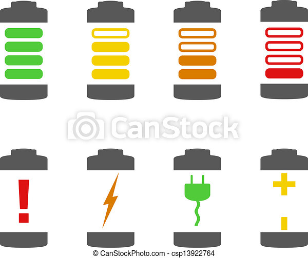 Battery Icons - csp13922764