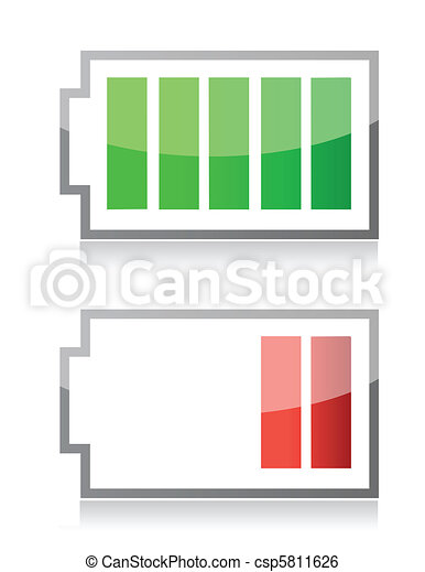 battery icons  - csp5811626