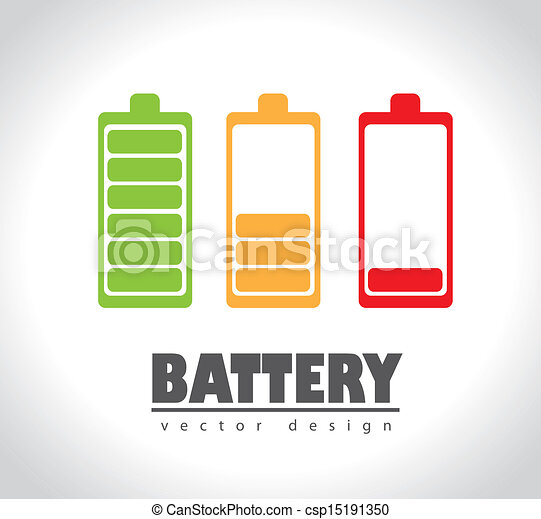 battery icons  - csp15191350