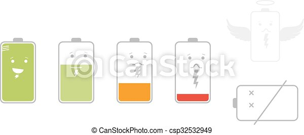 Battery Icons - csp32532949