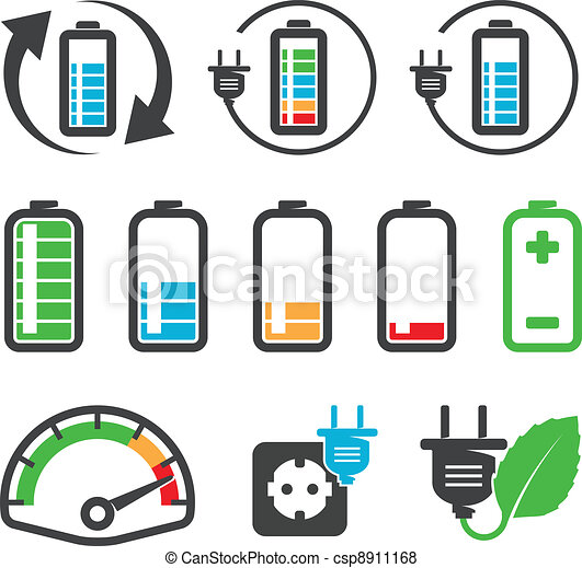 Battery icons - csp8911168