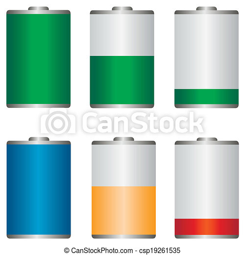 battery icons - csp19261535