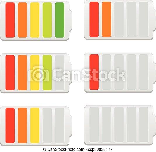 Battery Level Indicator Symbols - csp30835177