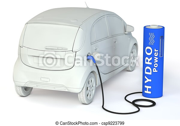 Battery Petrol Station - Hydro Power - csp9223799