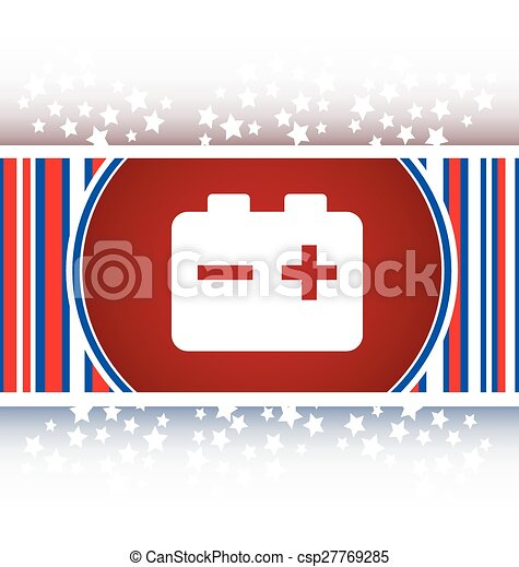 battery round web glossy icon button - csp27769285