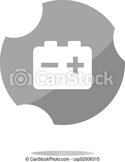 battery round web glossy icon button - csp52006315