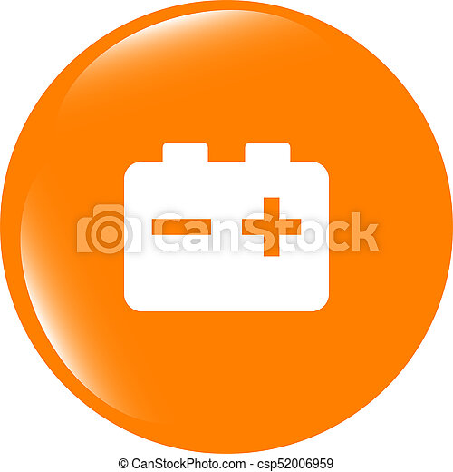 battery round web glossy icon button - csp52006959
