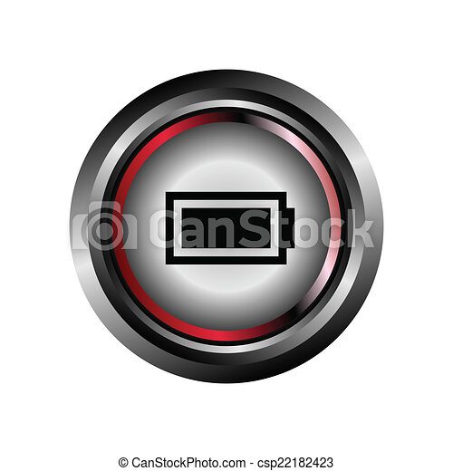 Battery sign button glossy web icon - csp22182423