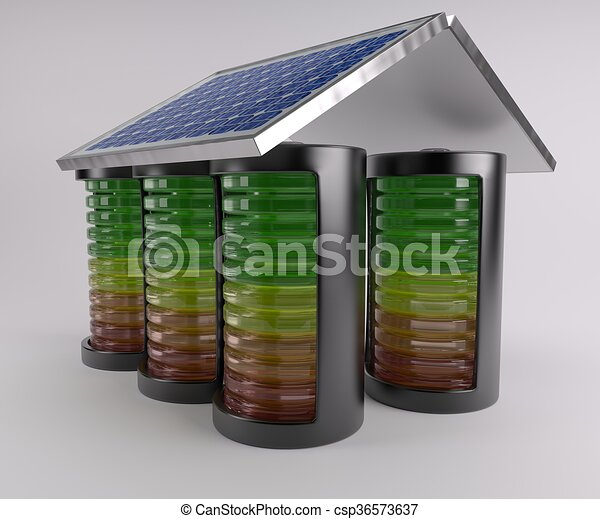 Battery Solar Charge Levels - csp36573637