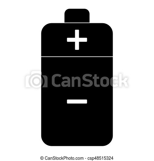 Battery the black color icon . - csp48515324