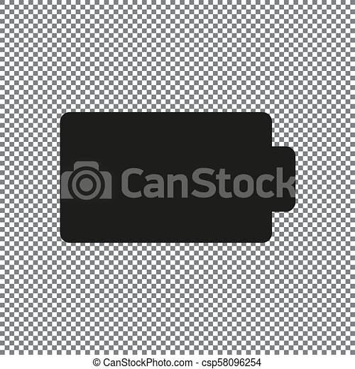 battery vector icon on a transparent background can stock photo