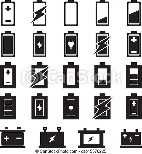 battery vector set for your design https www canstockphoto com battery vector 15576225 html