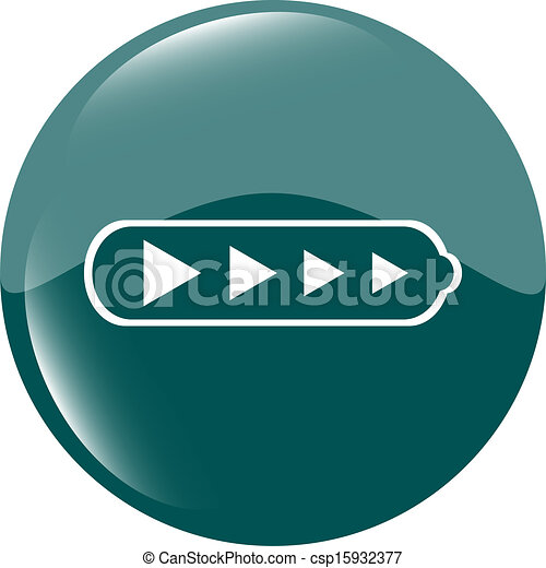Battery web icon button - csp15932377