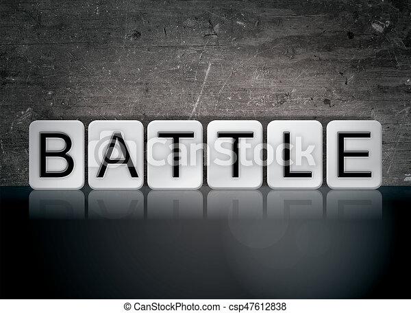 Battle Concept Tiled Word - csp47612838